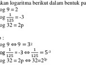 Persamaan Logaritma dan Pertidaksamaan Logaritma : Contoh Soal dan Pembahasan