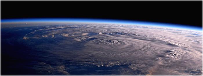 tempestade harvey vista do espaço