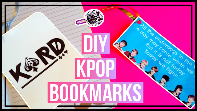 3 KPOP Inspired Bookmarks How to Make Simple Bookmarks