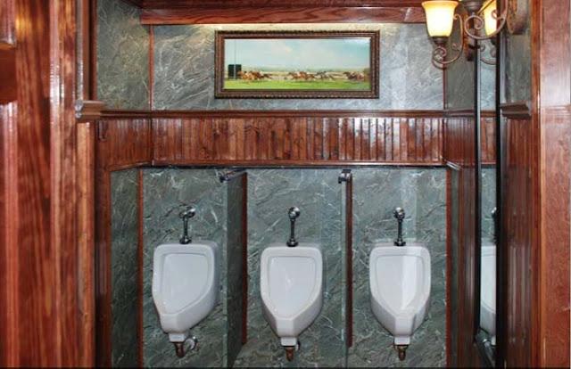 Porcelain Urinals in Restroom Trailer