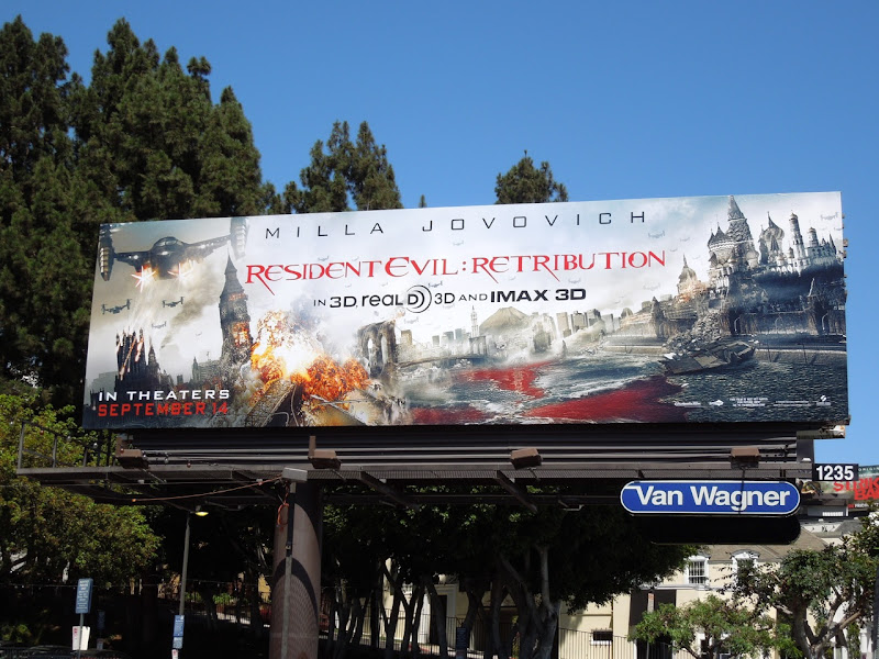 Resident Evil Retribution movie billboard