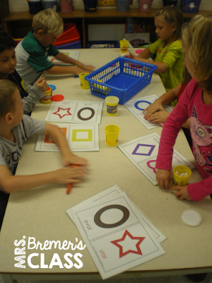 Lots of ideas for hands-on Kindergarten math centers!