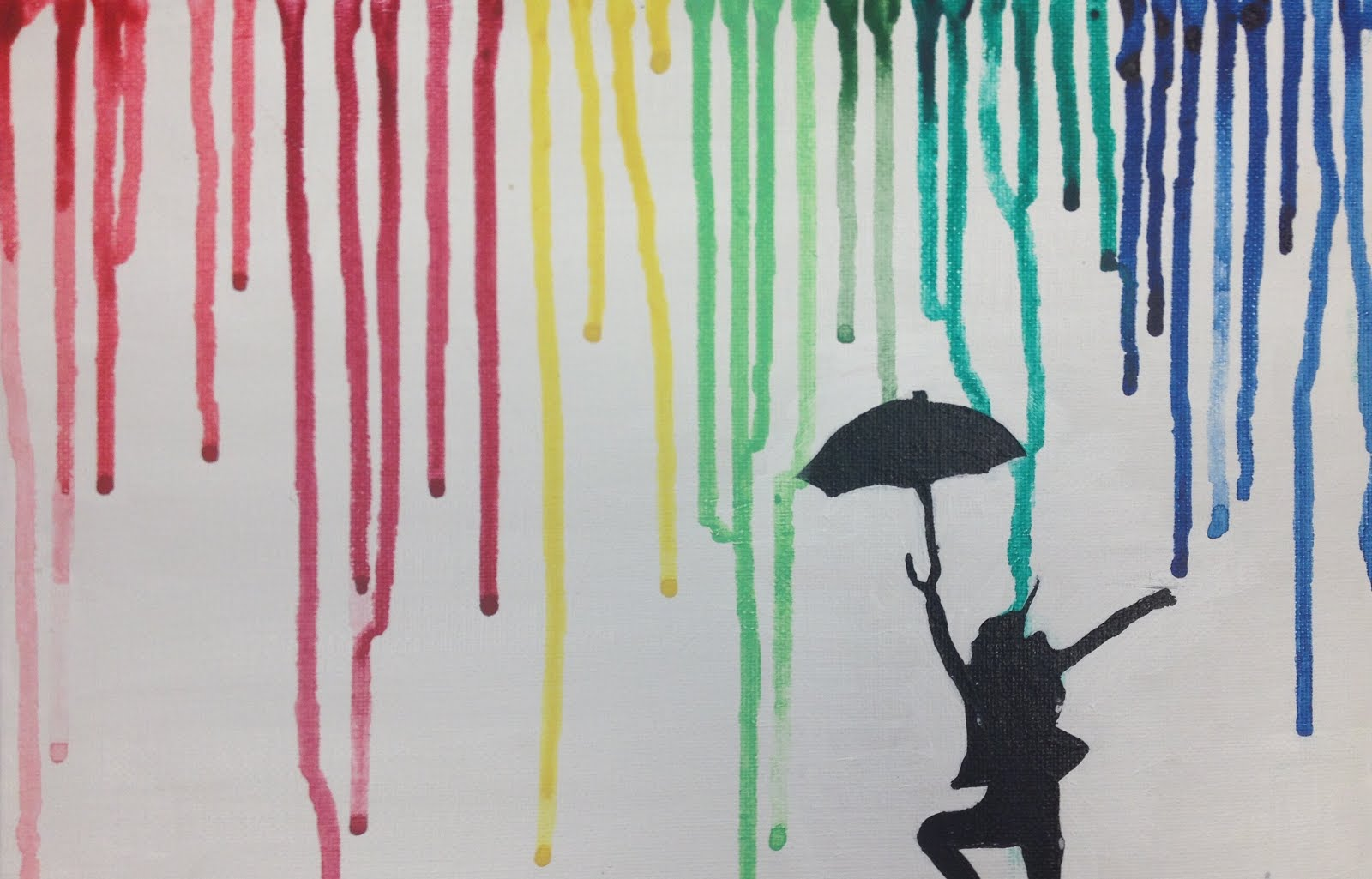 Abstract Painting Of Girl Dancing Abstract Dancing In The Rain