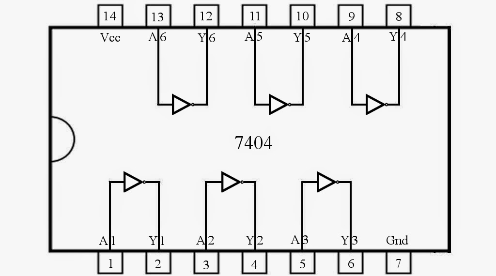 control 7404  not gate ic  using switch  u00ab funny electronics