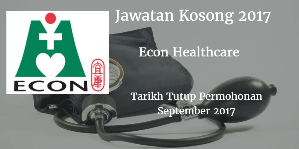 Jawatan Kosong ECON MEDICARE CENTRE SDN BHD September 2017
