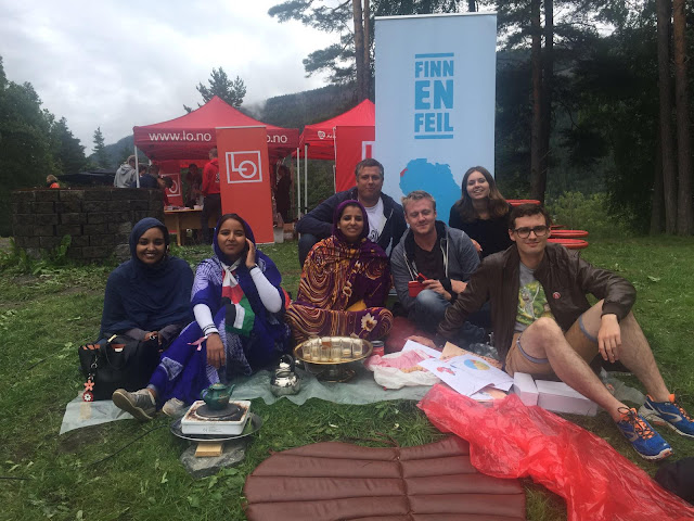اتحاد شبيبة الساقية الحمراء ووادي الذهب يشارك الشباب النروجي في ذكرى اوتويا