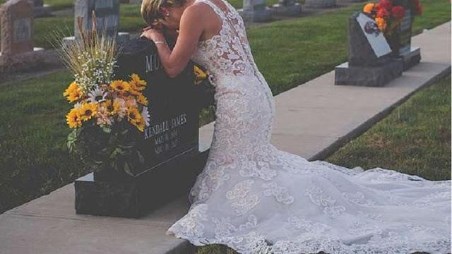 Η συγκλονιστική ιστορία πίσω από τη γυναίκα που πήγε ντυμένη νύφη στο νεκροταφείο! (ΦΩΤΟ)