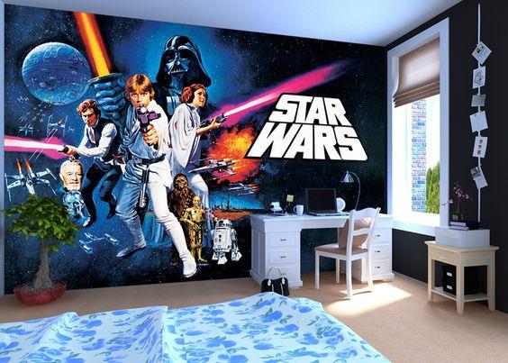 Tapetti Lastenhuoneeseen Star Wars Tapetti valokuvatapetti lapsia poikien huoneen tapetti lasten tapetti lastenhuone tapetti