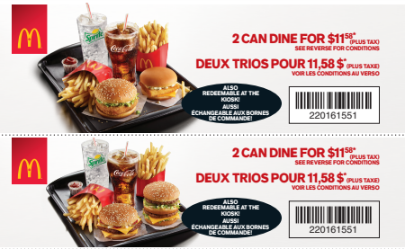 McDonald's Coupons Canada