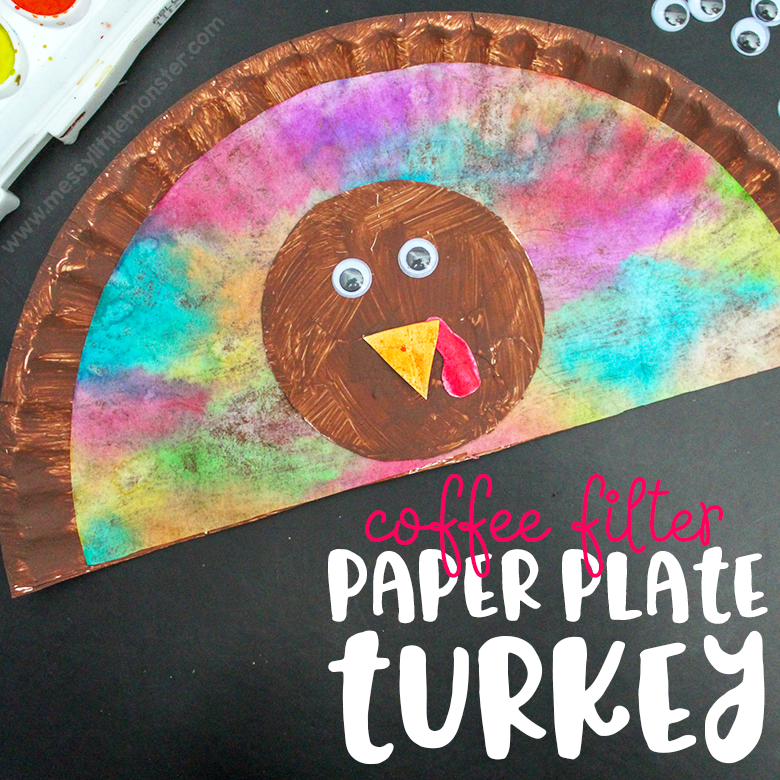 Paper plate turkey craft- Thanksgiving crafts for kids