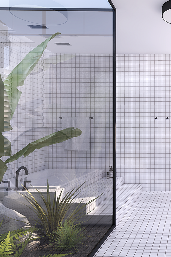 Urban contemporary bathroom. Design by Eleni Psyllaki @myparadissi