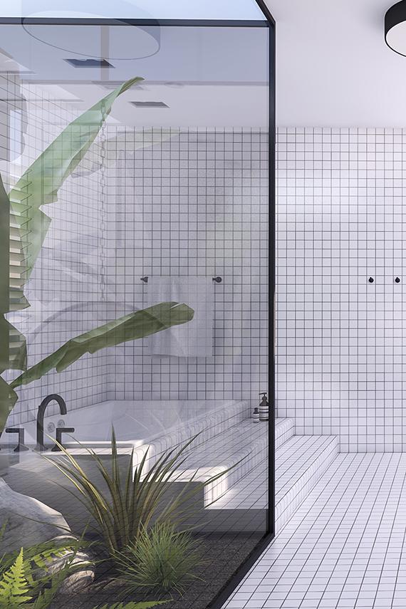 Urban contemporary bathroom   My Paradissi