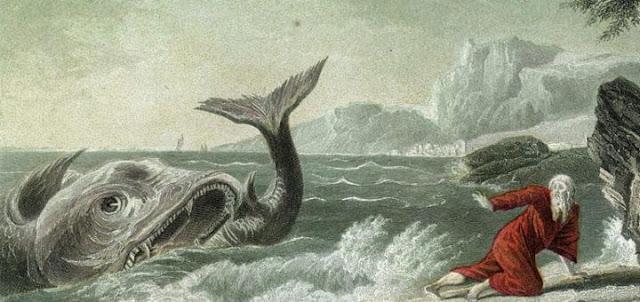 Basi wakamkamata  nabii Yona, wakamtupa baharini, nayo bahari ikaacha kuchafuka.