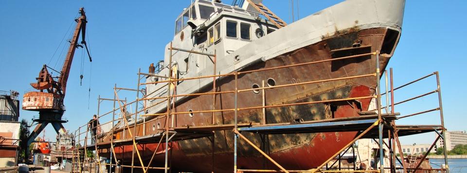 Протидиверсійний катер ВМСУ Гола Пристань ремонтується на МСЗ
