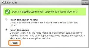 pesan domain saja