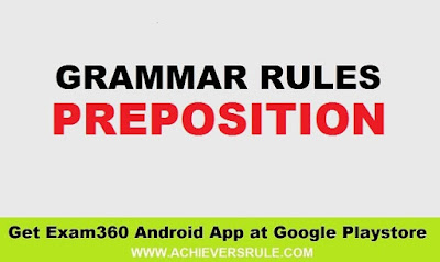 Lists of Preposition - English Grammar Rules