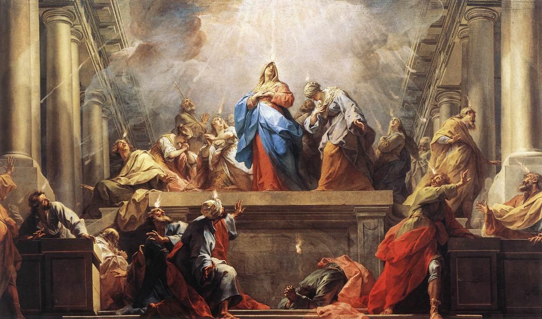 Pentecostes - Maria Santíssima e os Apóstolos