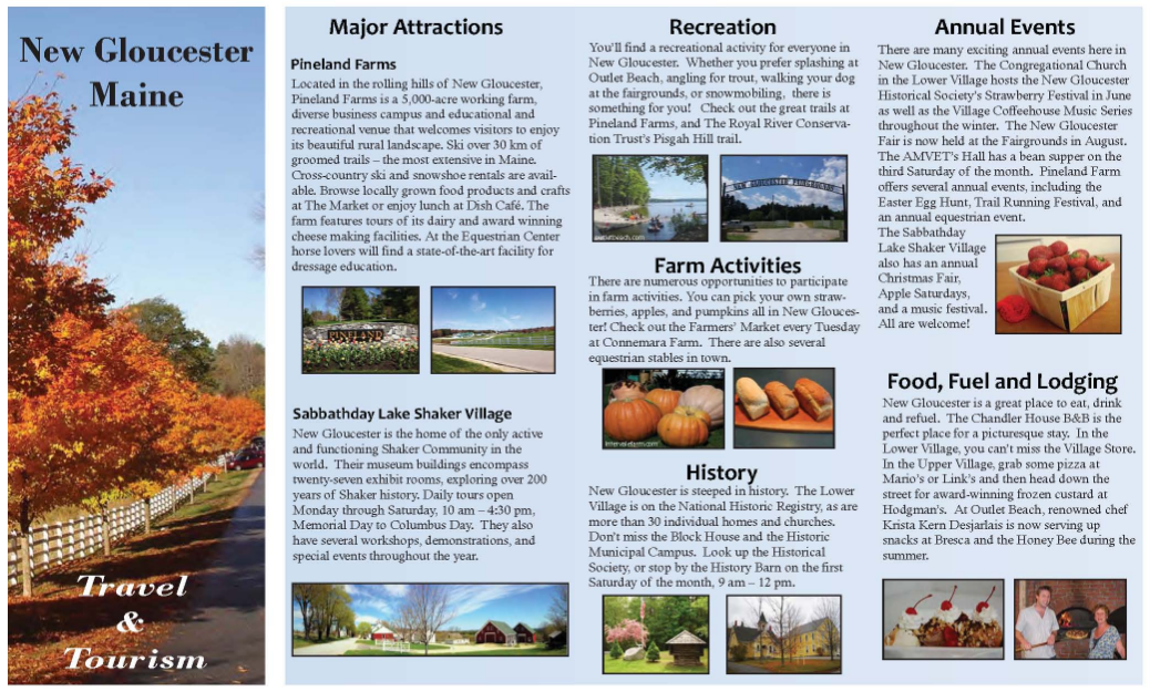 travel brochure project example