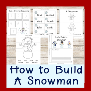 snowman sequencing pack