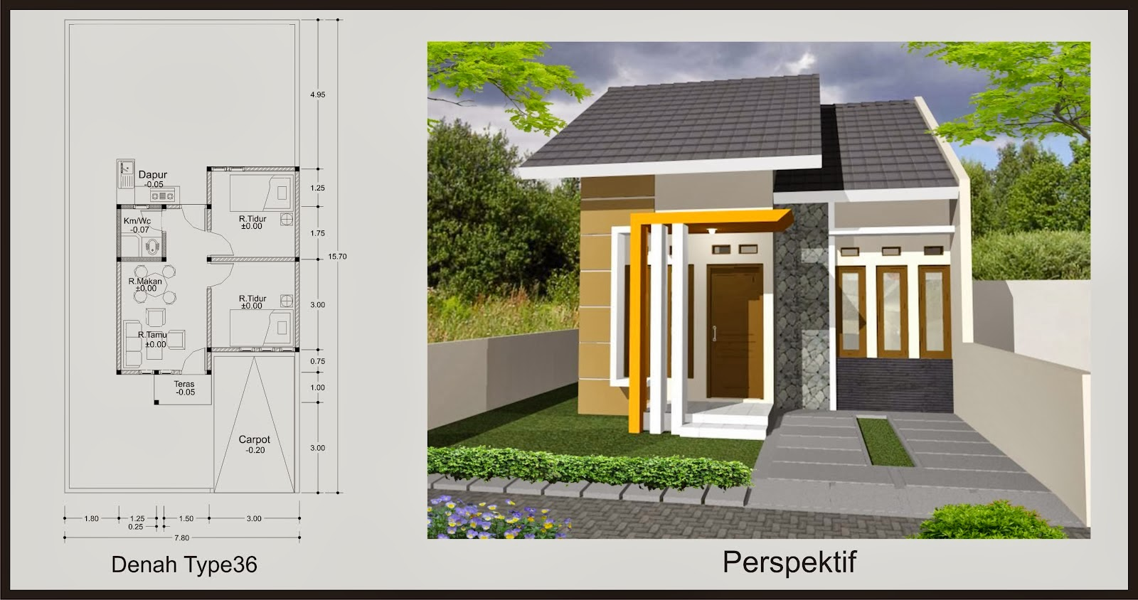 Rumah Sederhana Type 36 Minimalis - 35 gambar desain rumah