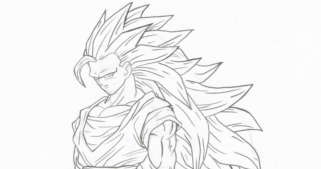 Desenhos Para Colorir Colorir Goku: Universo HQ: COMO DESENHAR GOKU SUPER SAYAJIN 3