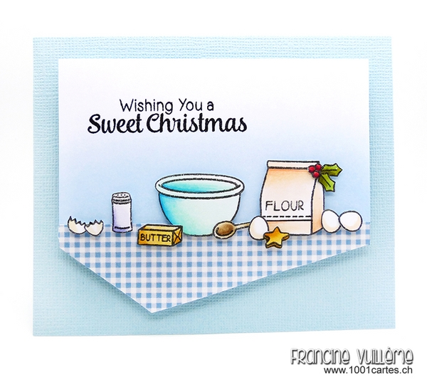 Sunny Studio Stamps: Blissful Baking Christmas Card by Francine Vuillème