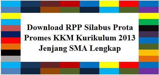 Download Rpp Silabus Prota Promes Kkm Kurikulum 2013 Jenjang Sma Lengkap File Guru Pgri