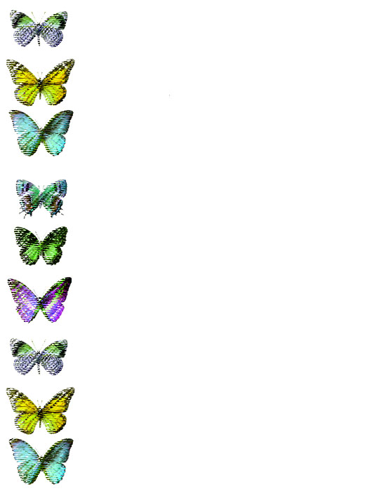 Bordes Decorativos: Bordes decorativos de mariposas para imprimir