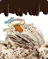 A stock image of Belmont Premium Denali Moose Tracks Ice Cream, from Aldi