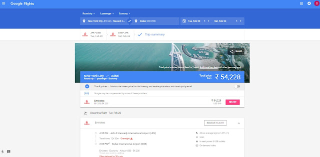 google flights updated version