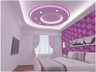 false ceiling LED indirect lighting for modern bedrooms