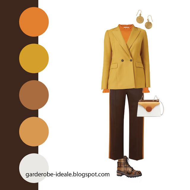 Сочетание желтого и оранжевого цветов в одежде