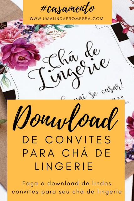 Download de Convites para Chá de Lingerie