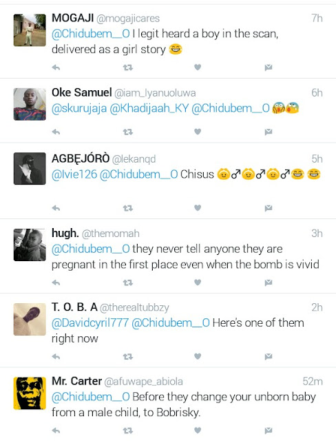 """Before they turn your unborn baby from a male child to Bobrisky"" - Funniest answers to question on why Nigerians don"