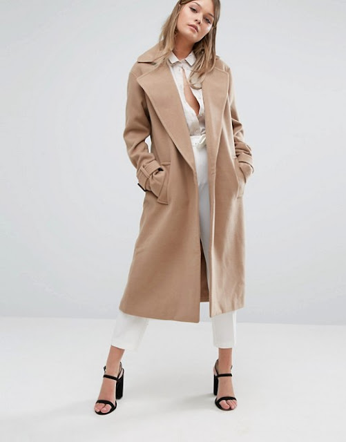 fashion union maxi coat, fashion union camel coat, full length camel coat,