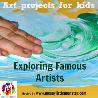 Exploring Famous Artists Blog series hosted by Messy Little Monster.
