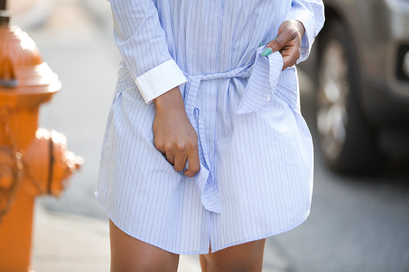 trouve stripe shirtdress, sporty chic, adidas superstar, www.jadore-fashion.com