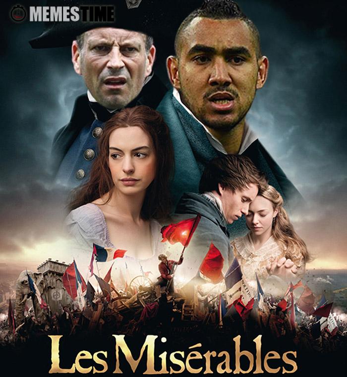 Cartaz de Apresentação do Filme Lés Misérables – Consegue pensar num título mais adequado? Espalhe-o aos 7 ventos…