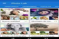 Photo Lab: editor de fotos con marcos, filtros, y efectos para hacer fotomontajes gratis en Android