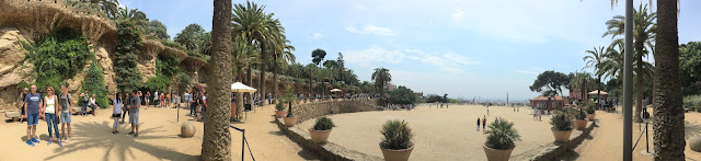 Guell park and it's off limit zones