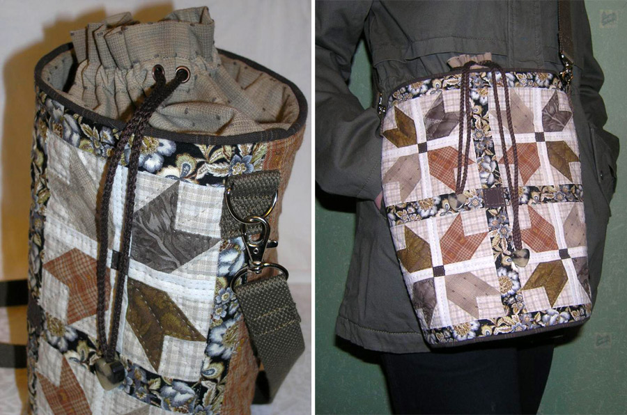 Patchwork Bag Torba round bottom. DIY tutorial with pictures. Сумка-торба Пэчворк