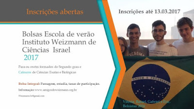 Instituto Weizmann de Ciências de Israel abre bolsas de estudos