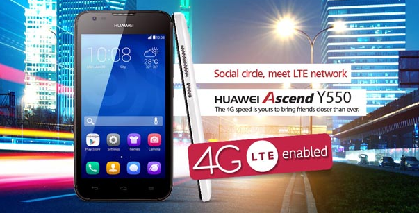 Huawei Launched Y550 4G with Zong Offer in Pakistan