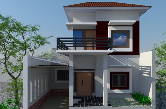 desain rumah minimalis 2 lantai type 21-60