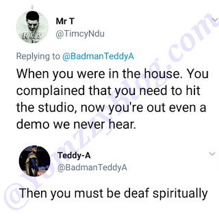 BBNaija's Teddy-A Slams Man Who Said He Has Not Listened To Any Of His Music