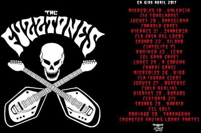 THE FUZZTONES!!!!! - Gira abril 2017