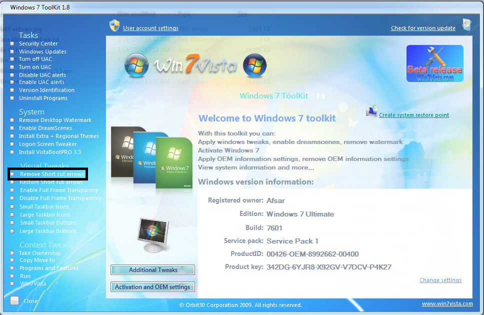 Cara Menghilangkan Tanda Shortcut program Windows
