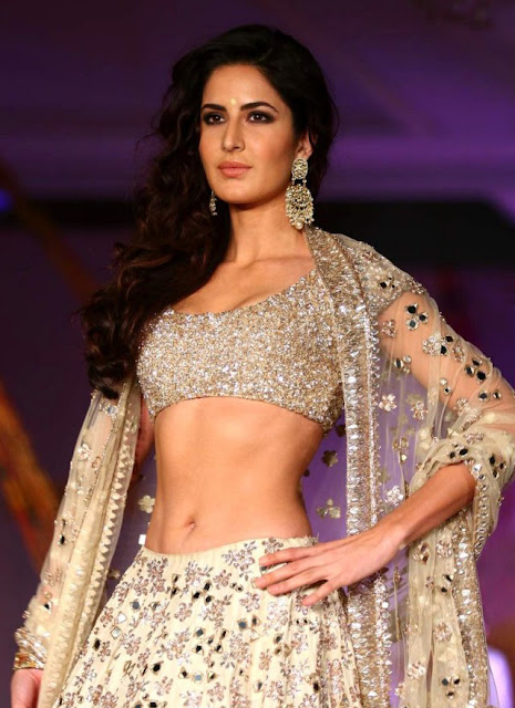 Katrina Kaif in Silver Color Bridal Lehenga Choli