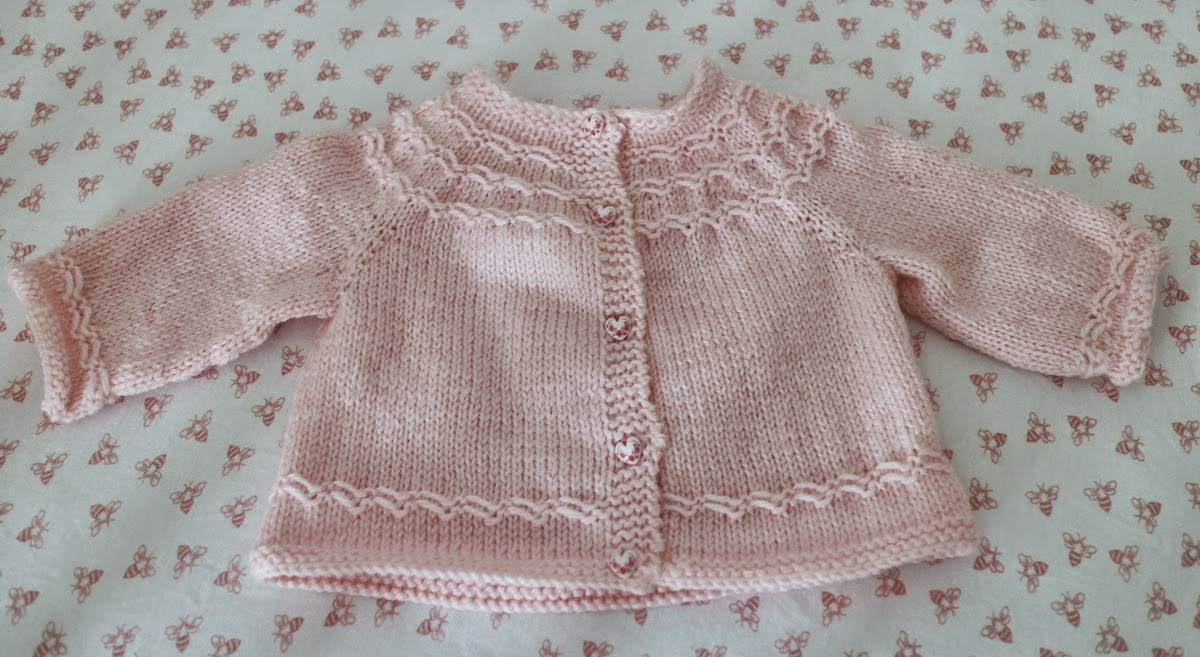 Lilacs and Springtime: Seamless Yoked Baby Sweater