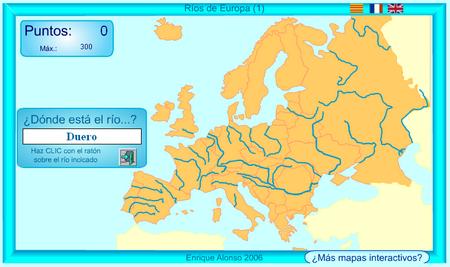 Mapa Interactivo Rios Europa.Mapa Interactivo De Europa Rios